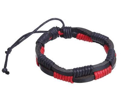 """Браслет мужской """"Сила"""" плетение, цвет чёрно-красный 1501541"""