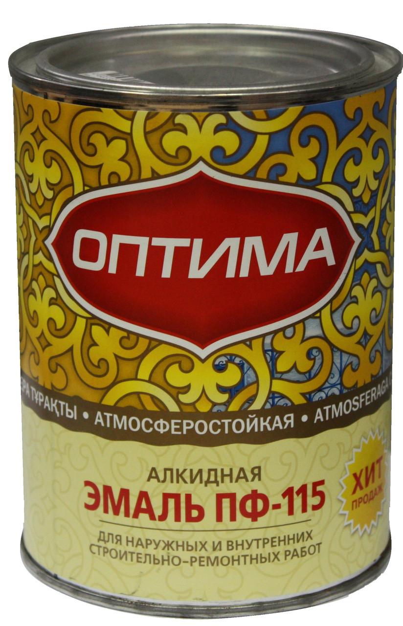 """Эмаль ПФ-115 """"Оптима"""" черная 1.9кг"""