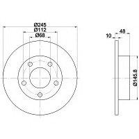 Тормозные диски Volkswagen Passat 4motion (96-05, задние, Optimal), фото 1