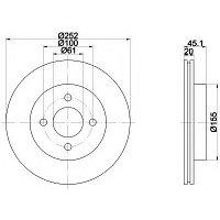 Тормозные диски Nissan Almera (95-00, передние, Optimal, D252), фото 1