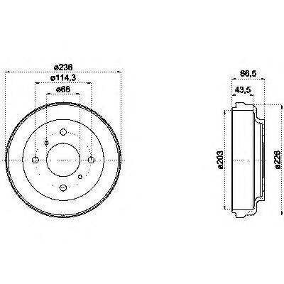 Тормозные барабаны Nissan Almera N16 (03-… , Optimal)