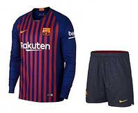 Barcelona - детская футбольная форма с длинным рукавом