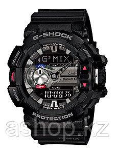 Часы электронные наручные мужские Casio G-SHOCK GBA-400-1A, Механизм: Кварц, Браслет: Ремешок из полимерного м