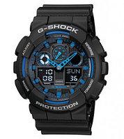 Часы электронные наручные мужские Casio G-SHOCK GA-100-1A2DR, Механизм: Кварц, Браслет: Ремешок из полимерного