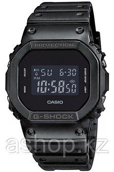 Часы электронные наручные мужские Casio G-SHOCK DW-5600BB-1ER, Механизм: Кварц, Браслет: Ремешок из полимерног