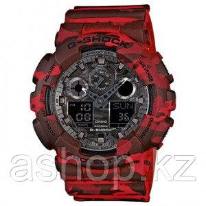 Часы электронные наручные мужские Casio G-SHOCK GA-100CM-4AER, Механизм: Кварц, Браслет: Ремешок из полимерног