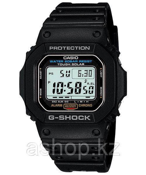 Часы электронные наручные мужские Casio G-SHOCK G-5600E-1DR, Механизм: Кварц, Браслет: Ремешок из полимерного