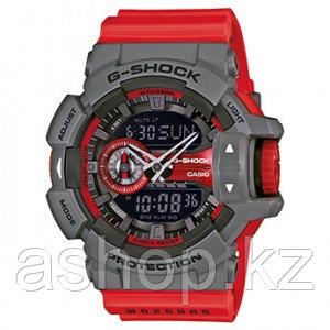 Часы электронные наручные мужские Casio G-SHOCK GA-400-4BER, Механизм: Кварц, Браслет: Ремешок из полимерного