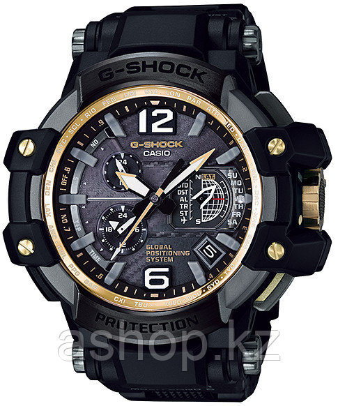 Часы электронные наручные мужские Casio G-SHOCK GPW-1000FC-1A9, Механизм: Кварц, Браслет: Из карбона и полимер