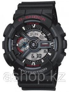 Часы электронные наручные мужские Casio G-SHOCK GA-110-1ADR, Механизм: Кварц, Браслет: Ремешок из полимерного