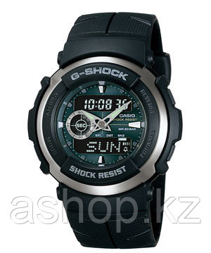 Часы электронные наручные мужские Casio G-SHOCK G-300-3AV, Механизм: Кварц, Браслет: Ремешок из полимерного ма