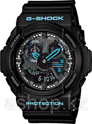 Часы электронные наручные мужские Casio G-SHOCK GA-300BA-1ADR, Механизм: Кварц, Браслет: Ремешок из полимерног