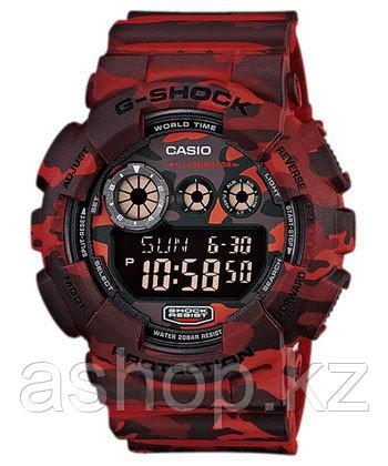 Часы электронные наручные мужские Casio G-SHOCK GD-120CM-4DR, Механизм: Кварц, Браслет: Ремешок из полимерного