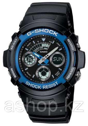 Часы электронные наручные мужские Casio G-SHOCK AW-591-2A, Механизм: Кварц, Браслет: Ремешок из полимерного ма