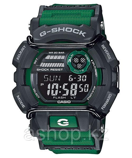 Часы электронные наручные мужские Casio G-SHOCK GD-400-3DR, Механизм: Кварц, Браслет: Ремешок из полимерного м