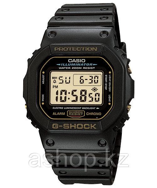 Часы электронные наручные мужские Casio G-SHOCK DW-5600EG-9VQ, Механизм: Кварц, Браслет: Ремешок из полимерног