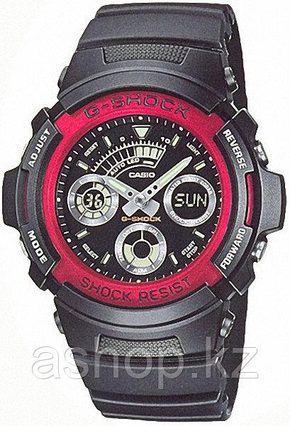 Часы электронные наручные мужские Casio G-SHOCK AW-591-4A, Механизм: Кварц, Браслет: Ремешок из полимерного ма