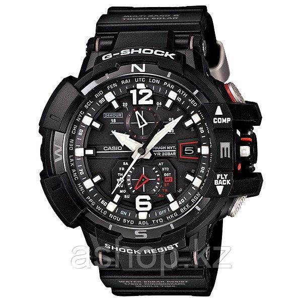 Часы электронные наручные мужские Casio G-SHOCK GW-A1100-1ADR, Механизм: Кварц, Браслет: Ремешок из полимерног