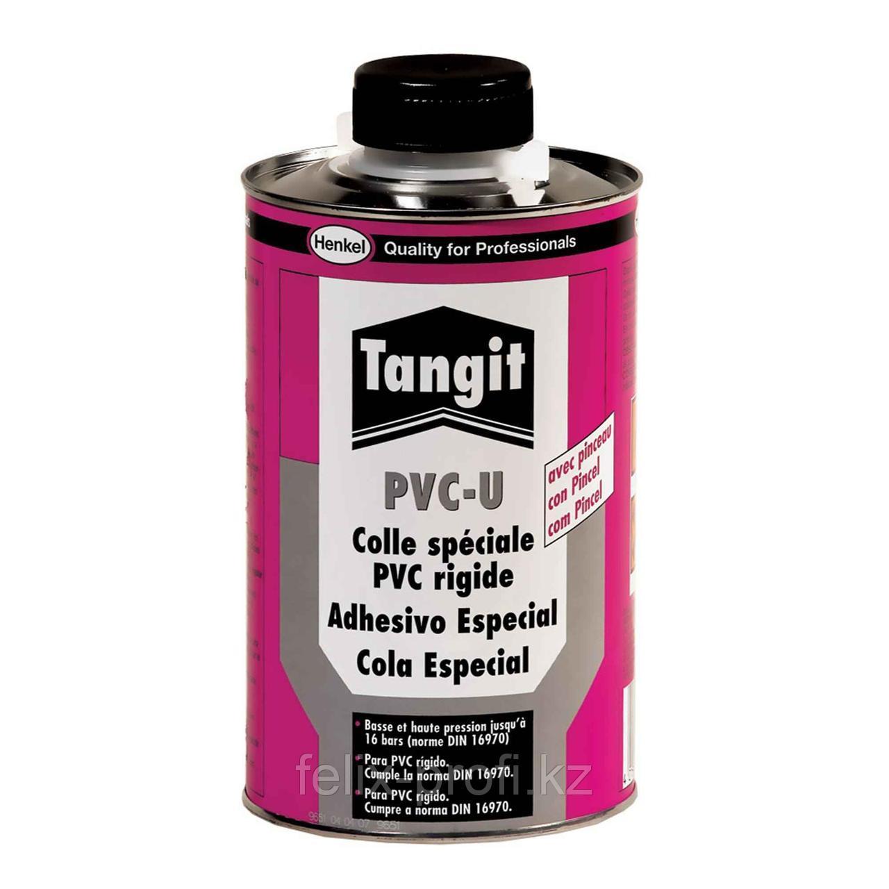 Tangit PV-U (клей для ПВХ труб) Клей для склеивания соединений  напорных труб с арматурой из твердого ПВХ,1гк.