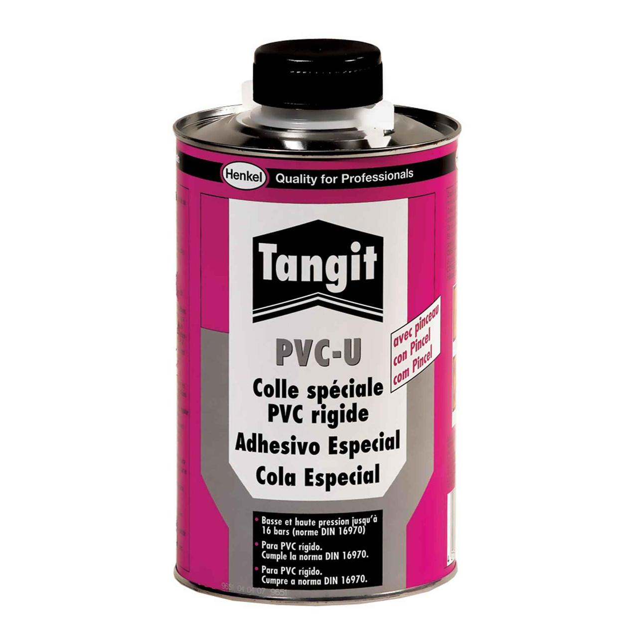 Tangit PV-U (клей для ПВХ труб) Клей для склеивания соединений  напорных труб с арматурой из твердого ПВХ,500г