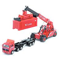 Welly 99799-2G Велли Модель контейнеровоза с погрузчиком