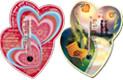 """Термометр бытовой сувенирный """"Валентинка"""" (0...+50) цена деления 1, основание-картон, крепление-липучка"""