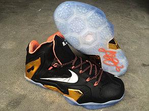 Баскетбольные кроссовки Nike Lebron 11 (XI) Elite Series черный с золотом, фото 2
