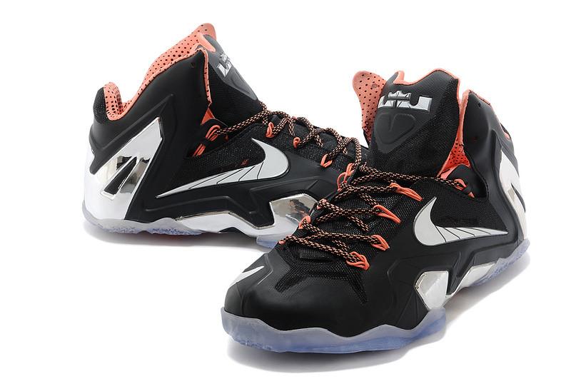 Баскетбольные кроссовки Nike Lebron 11 (XI) Elite Low черный и серебро