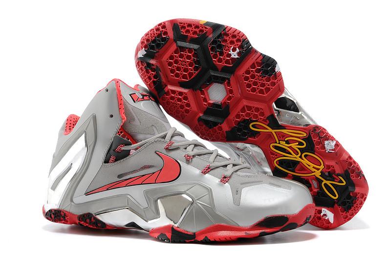 Баскетбольные кроссовки Nike Lebron 11 (XI) Elite Low серые