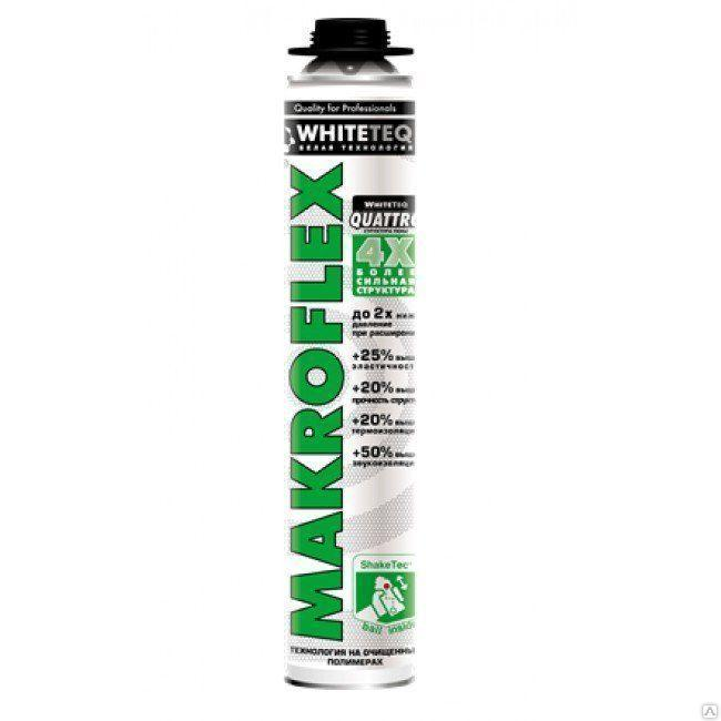 MAKROFLEX WHITETEQ Белая технология , монтажная пена профессиональная 750мл.
