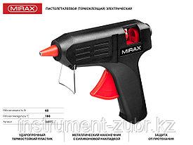 Пистолет клеевой (термоклеящий) электрический, 60Вт/220В, 11мм MIRAX.