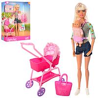 Defa Lucy Кукла Люси (29 см) с коляской, в наборе кукла-малыш, тематические аксессуары (в ассортименте), фото 1