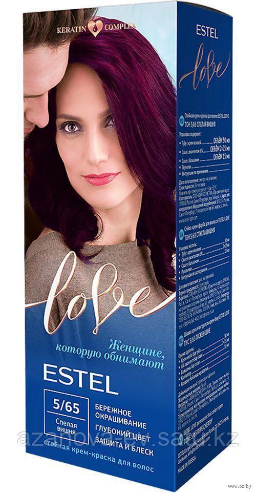 "Крем-краска для волос ""Estel Love"" (тон: 5/65, спелая вишня)"