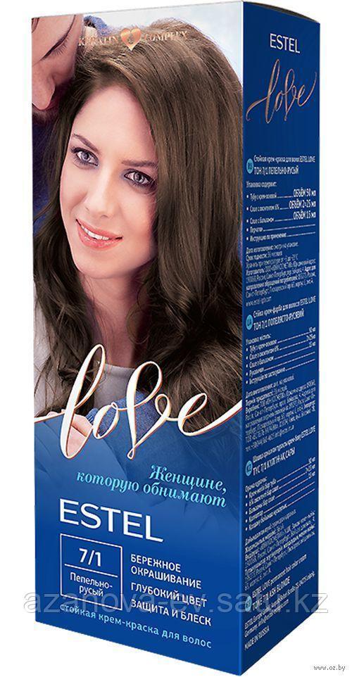 """Крем-краска для волос """"Estel Love"""" (тон: 7/1, пепельно-русый)"""