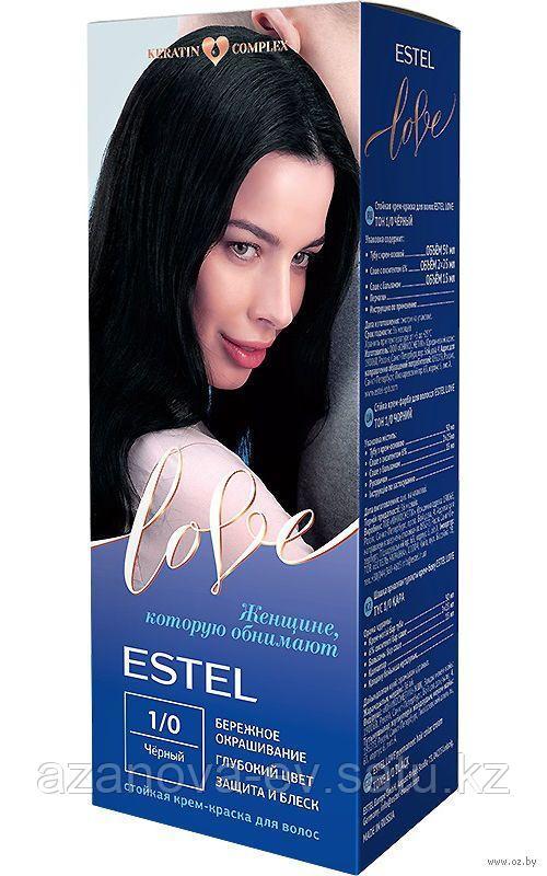 """Крем-краска для волос """"Estel Love"""" (тон: 1/0, черный)"""