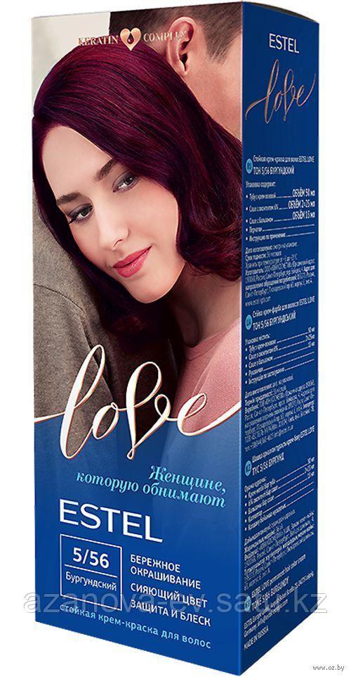 """Крем-краска для волос """"Estel Love"""" (тон: 5/56, бургундский)"""
