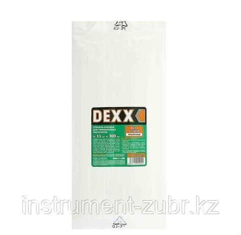 Стержни DEXX для клеевых (термоклеящих) пистолетов, 11/300мм, прозрачный, 1кг, фото 2