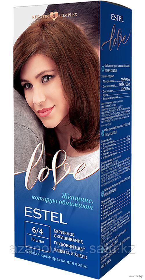 "Крем-краска для волос ""Estel Love"" (тон: 6/4, каштан)"