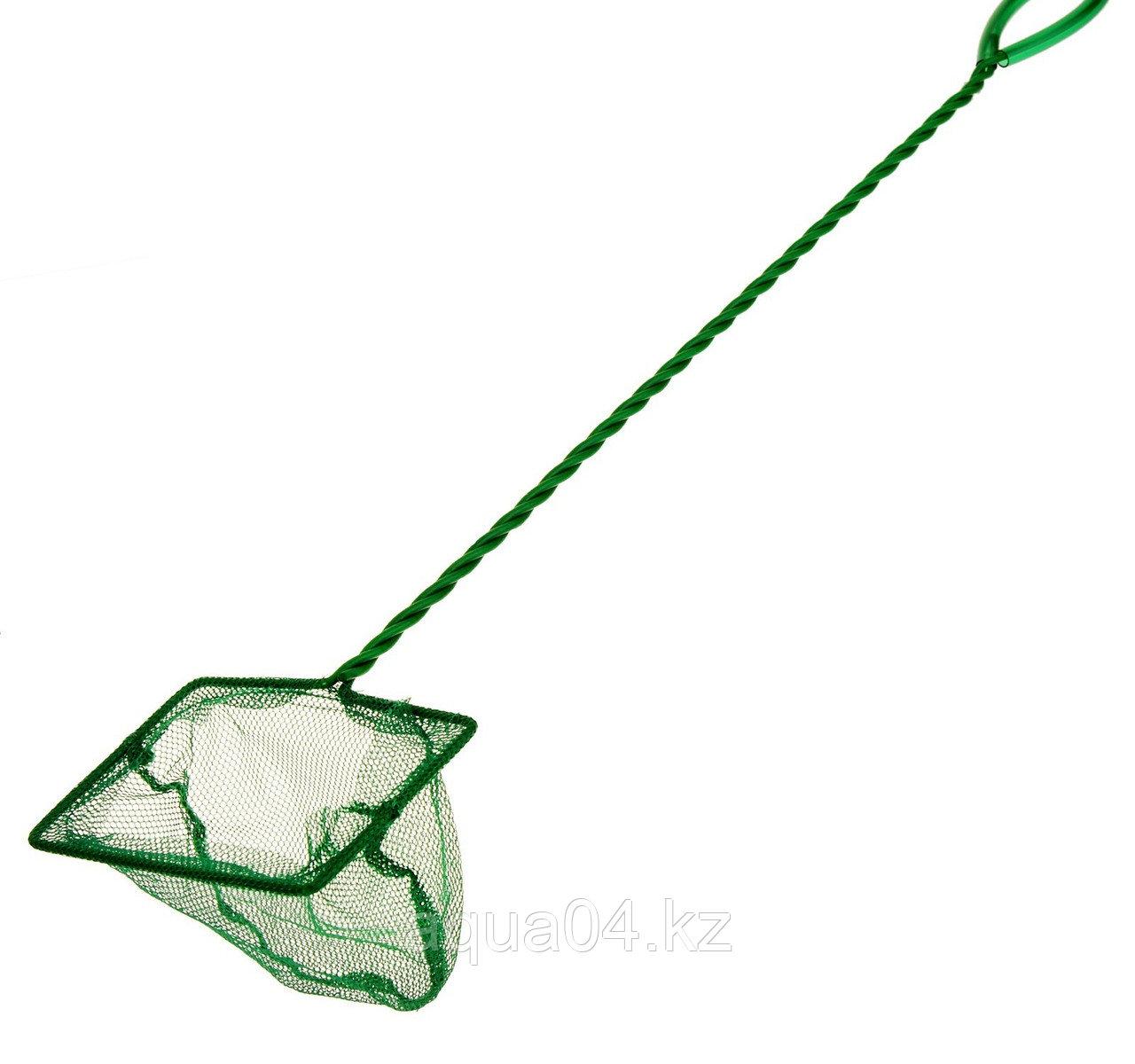 """Сачок 4"""" Long Net Green  (10 см.) с длинной ручкой"""