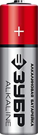 Щелочная батарейка 1.5 В, тип АА, 4 шт, ЗУБР Alkaline, фото 2