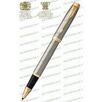 Ручка роллерная IM BMTL GT RB F BLK GB Parker