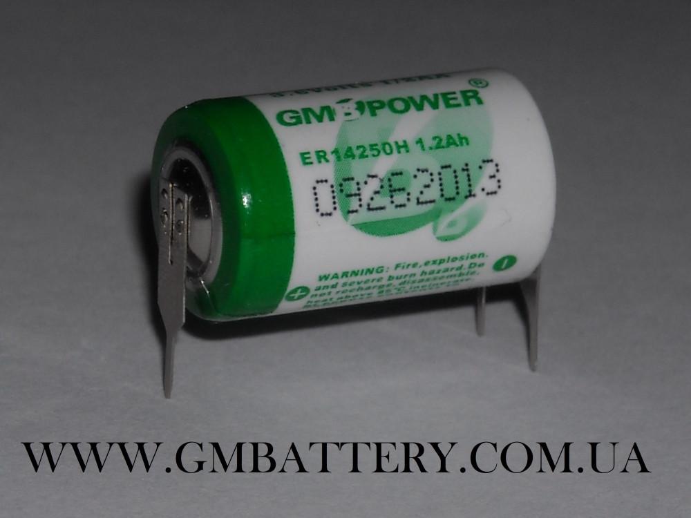 Батарейка 3.6v  ER14250H  GM POWER  1/2AA с лепестковыми выводами