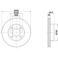 Тормозные диски Audi 80 (91-94, передние, Optimal), фото 1