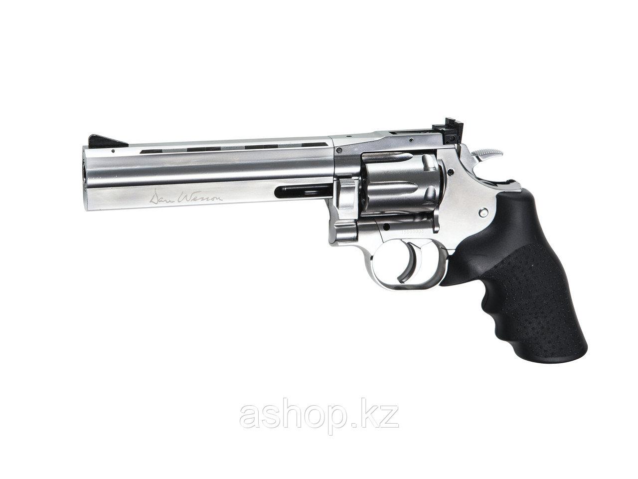 """Револьвер пневматический ASG Dan Wesson 715 - 6"""", Калибр: 4,5 мм (.177, BB), Дульная энергия: 3,0 Дж, Ёмкость"""