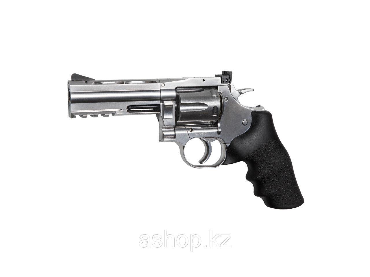 """Револьвер пневматический ASG Dan Wesson 4"""", Калибр: 4,5 мм (.177, BB), Дульная энергия: 2,7 Дж, Ёмкость магази"""