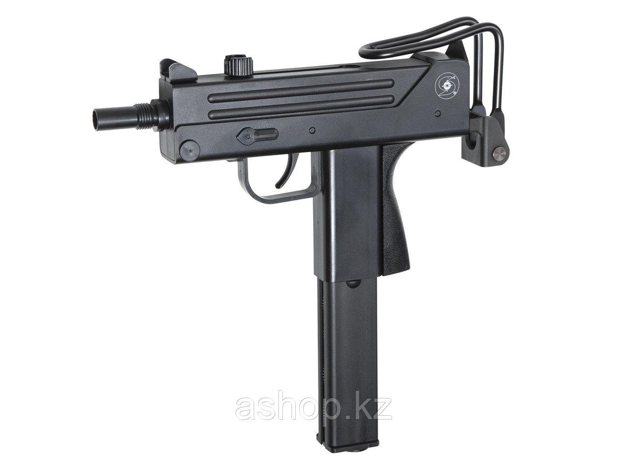 Пистолет-пулемёт пневматический ASG Ingram M11, Калибр: 4,5 мм (.177, BB), Дульная энергия: 2,5 Дж, Ёмкость ма