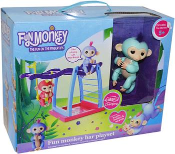 HG-713 Интерактивная обезьянка с площадкой для игры     24*31