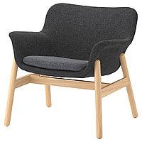 Кресло ВЕДБУ темно-серый ИКЕА, IKEA