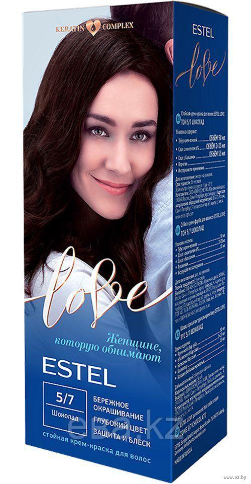 "Крем-краска для волос ""Estel Love"" (тон: 5/7, шоколад)"