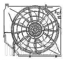 Диффузор радиатора в сборе BMW E46 98-05